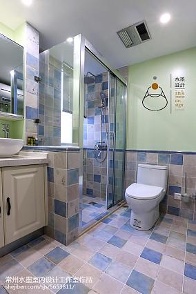 109平米三居卫生间美式实景图片欣赏