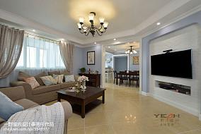 面积100平美式三居客厅装饰图片大全