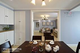 2018103平米三居餐厅美式装修设计效果图片欣赏
