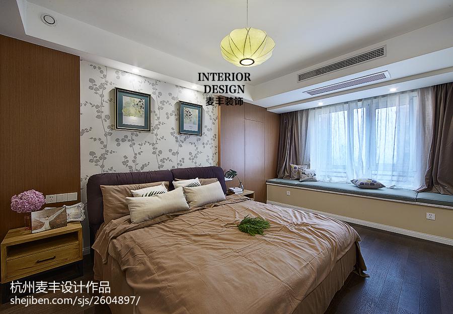 现代简约卧室飘窗效果图卧室窗帘现代简约卧室设计图片赏析