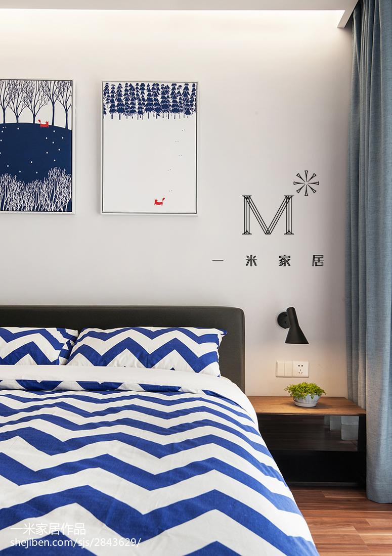 2018大小96平现代三居卧室欣赏图片卧室2图现代简约卧室设计图片赏析