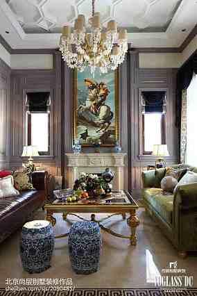 面积138平别墅客厅混搭实景图片欣赏别墅豪宅潮流混搭家装装修案例效果图