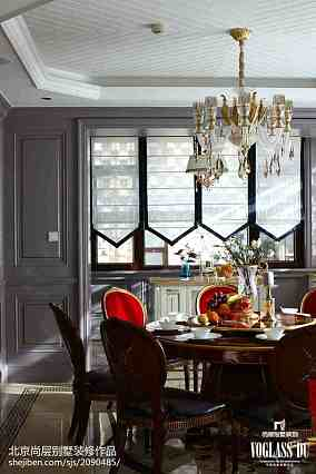 129平米混搭别墅餐厅装修图别墅豪宅潮流混搭家装装修案例效果图