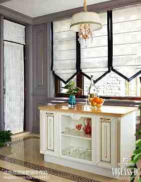 别墅厨房混搭装修实景图