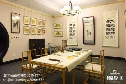精选面积138平别墅书房混搭装饰图片欣赏