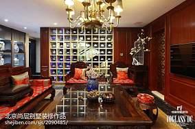 混搭风格别墅客厅博古架设计别墅豪宅潮流混搭家装装修案例效果图