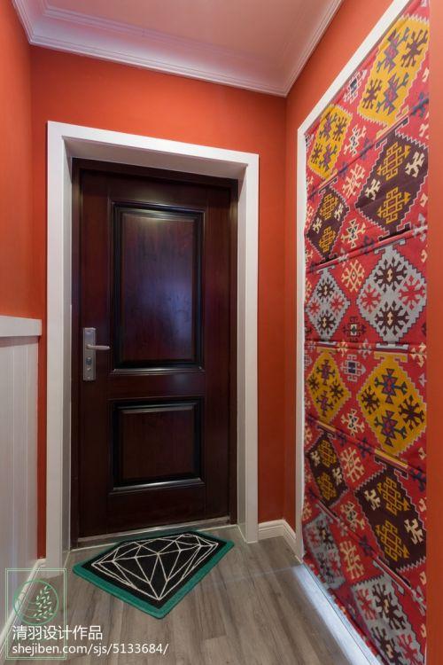 简洁90平混搭二居玄关装修装饰图玄关床头柜