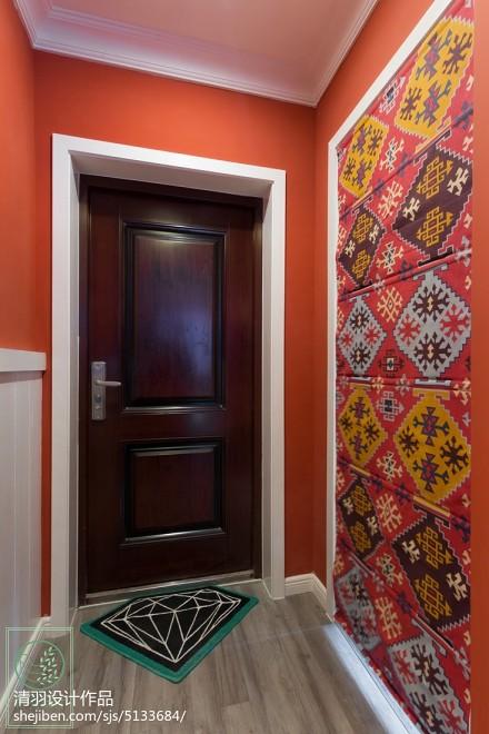 简洁90平混搭二居玄关装修装饰图玄关
