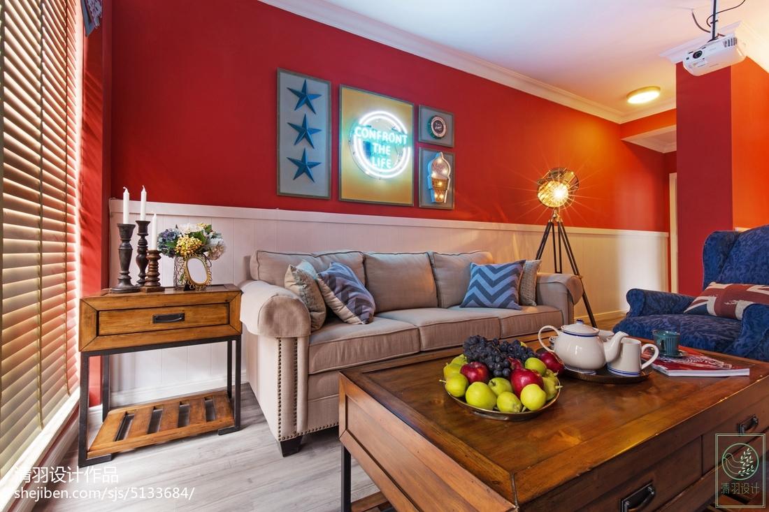 2018精选大小76平混搭二居客厅装修图客厅