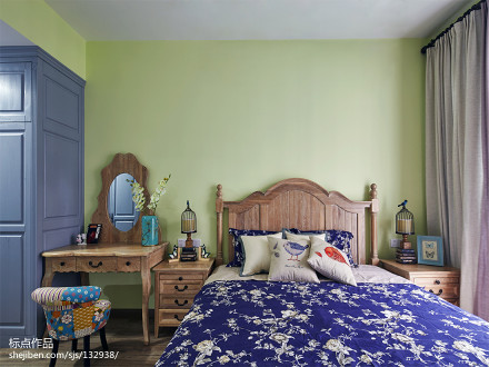 大气127平美式三居卧室案例图卧室