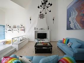 大气190平地中海复式客厅效果图片大全复式地中海家装装修案例效果图