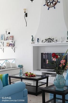 精美82平地中海复式客厅装饰图片复式地中海家装装修案例效果图