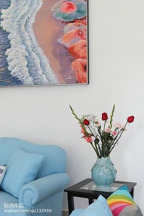 温馨42平地中海复式客厅实拍图复式地中海家装装修案例效果图
