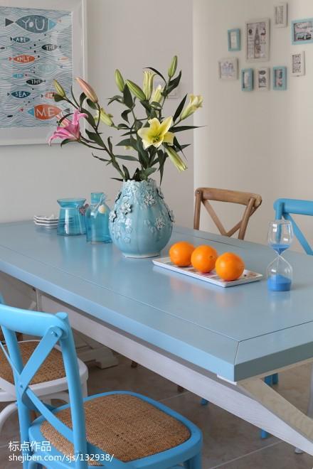 浪漫63平地中海复式餐厅装修美图厨房