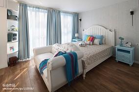 优雅80平地中海复式卧室效果图欣赏复式地中海家装装修案例效果图