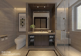 2018精选面积137平别墅卫生间现代装饰图片