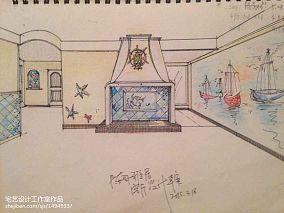 悠雅74平地中海二居客厅设计美图二居地中海家装装修案例效果图