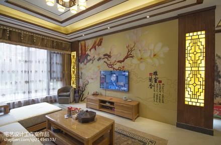 热门135平米中式别墅客厅装饰图片大全