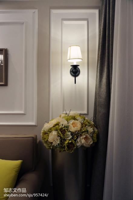 精选82平米二居客厅美式实景图片欣赏