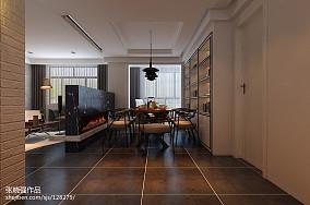 2018精选面积92平三居餐厅装修实景图片欣赏
