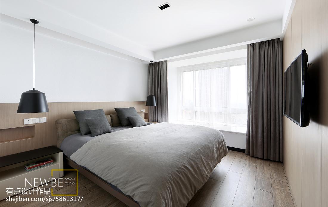热门108平米三居卧室简约装修效果图片欣赏卧室