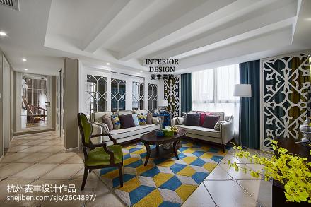 简约美式客厅白色为主装修图片