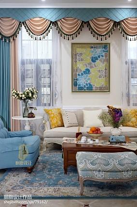 轻奢420平美式别墅客厅实景图片