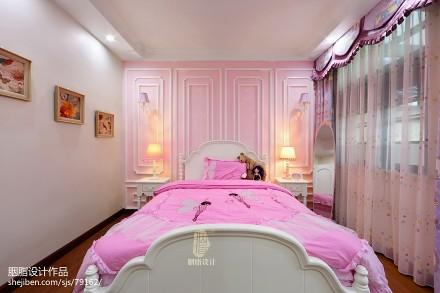 典雅282平美式别墅儿童房效果图欣赏卧室