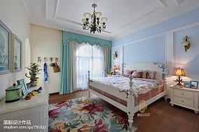 精美面积130平别墅卧室美式装修效果图片欣赏
