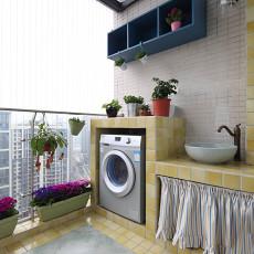 精美98平米三居阳台新古典实景图片欣赏
