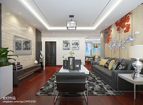 质朴110平中式三居客厅装饰美图