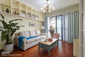 2018精选面积101平简约三居客厅实景图片欣赏