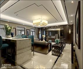 家庭美式客厅榆木地板