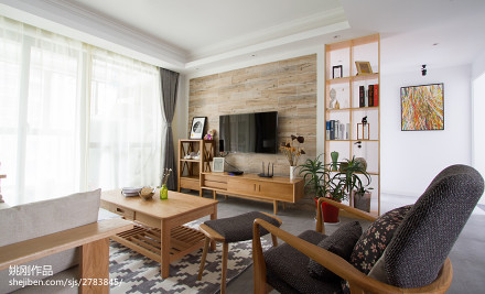 典雅99平日式三居设计案例