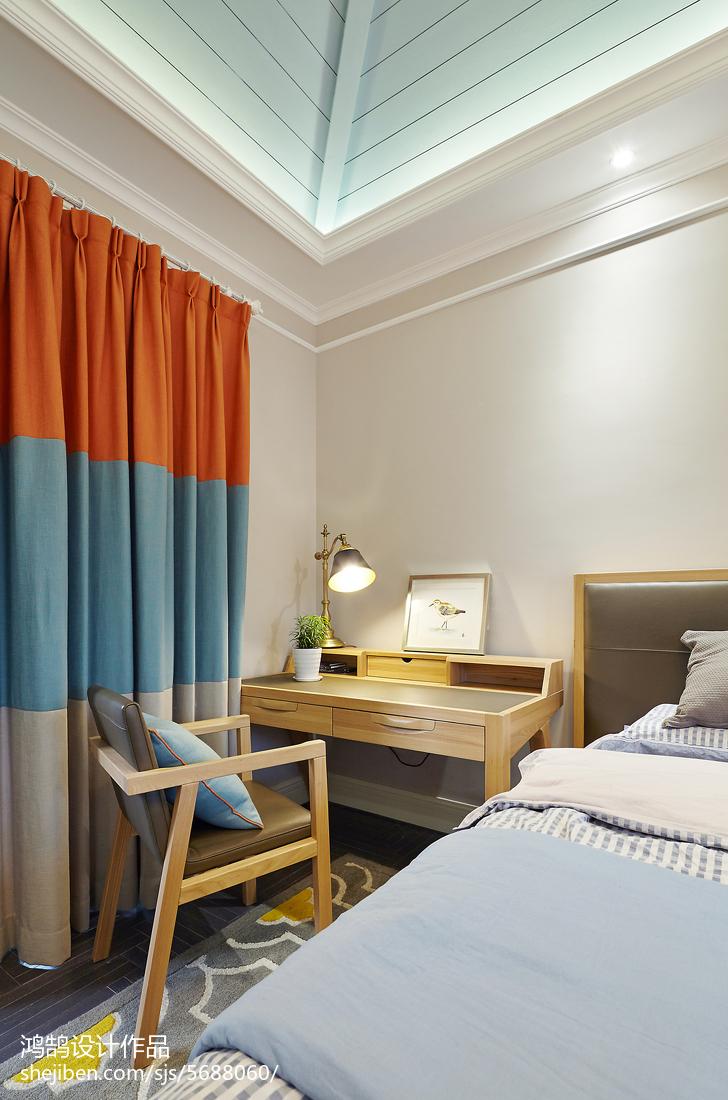 精美混搭别墅儿童房装修图片卧室潮流混搭卧室设计图片赏析