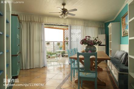 热门面积142平地中海四居餐厅欣赏图片大全