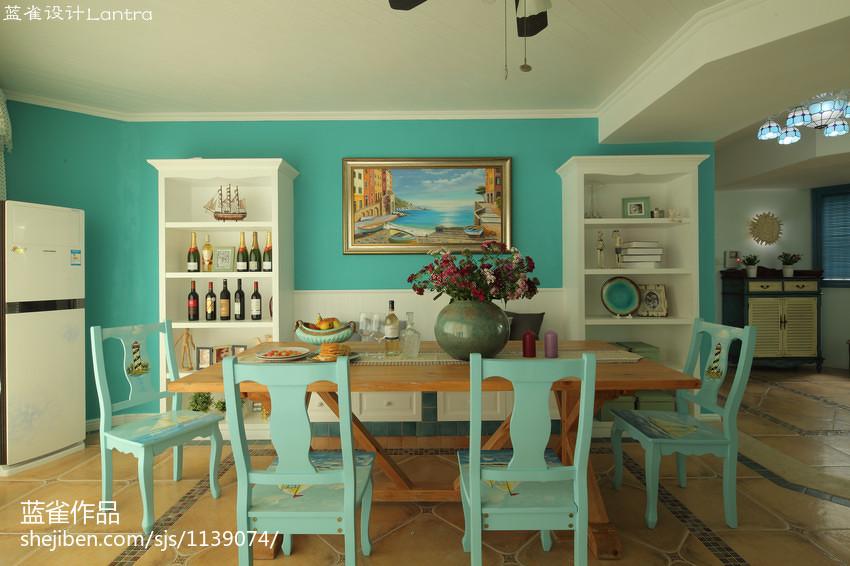 2018精选143平米四居餐厅地中海装修效果图片厨房地中海餐厅设计图片赏析