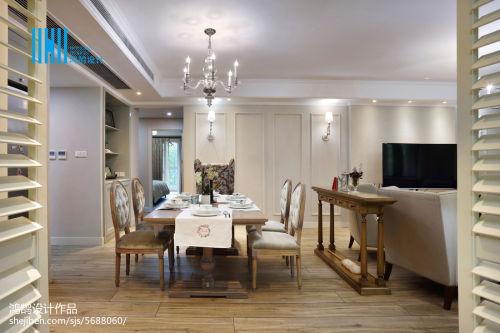 热门109平米三居餐厅混搭欣赏图片大全厨房木地板2图
