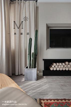 平米二居客厅北欧装修图片大全二居北欧极简家装装修案例效果图