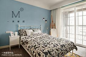 精选77平米二居卧室北欧设计效果图二居北欧极简家装装修案例效果图