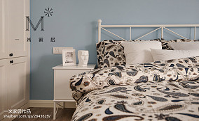 热门面积79平北欧二居卧室效果图片大全二居北欧极简家装装修案例效果图