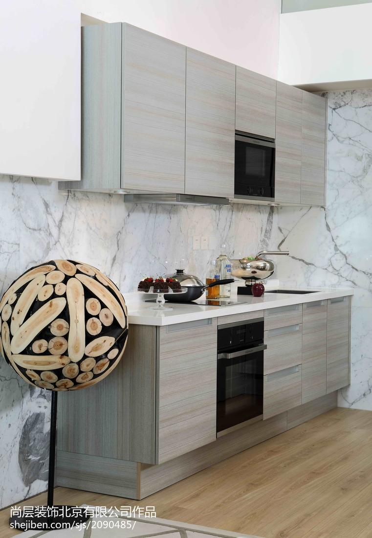 质朴42平现代复式装修设计图餐厅现代简约厨房设计图片赏析