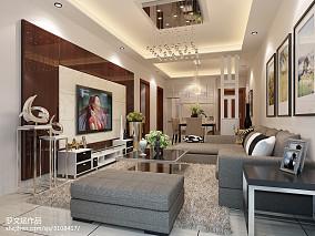 精美101平米三居客厅简约装修实景图