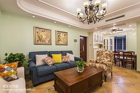热门107平米三居客厅简欧效果图片欣赏