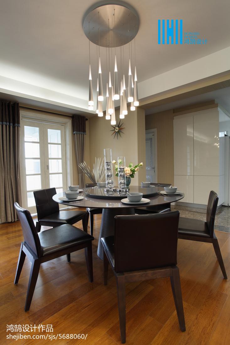 精选简约三居餐厅装修实景图厨房现代简约餐厅设计图片赏析
