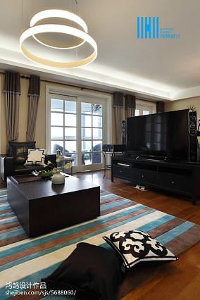 2018面积100平简约三居客厅装修设计效果图片