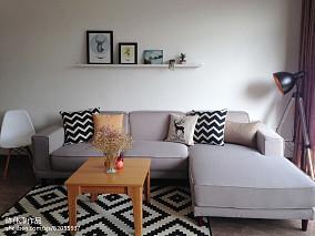 精选面积77平公寓北欧装修设计效果图片