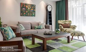 2018101平米三居客厅简约装修设计效果图片大全