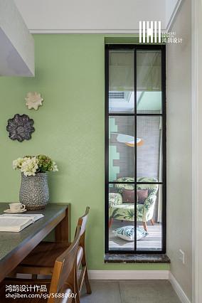 温馨86平简约三居餐厅设计图三居现代简约家装装修案例效果图