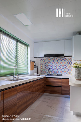 大气99平简约三居厨房设计案例三居现代简约家装装修案例效果图
